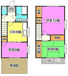 [テラスハウス] 埼玉県志木市中宗岡1丁目 の賃貸【/】の間取り