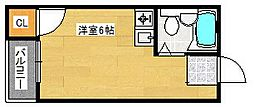玉出タカハシマンション[3階]の間取り