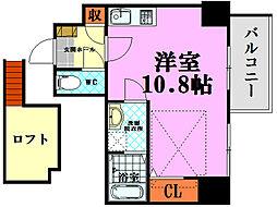 katayama BLDG 26 12階ワンルームの間取り