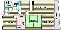 シャルマン和泉[2階]の間取り