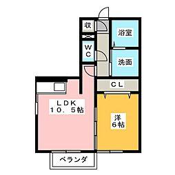 セントレ カーサ[1階]の間取り