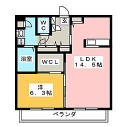 GREEN WAVE II[2階]の間取り