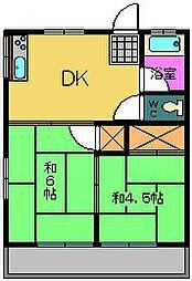 中山ハイツ[2階]の間取り