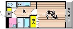 岡山県倉敷市新倉敷駅前5丁目の賃貸アパートの間取り