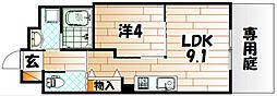 ソレイユ・ルヴァン赤坂[1階]の間取り