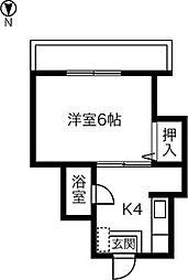 千代田マンション正明寺[202号室]の間取り