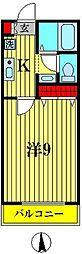 千葉県松戸市六実4の賃貸アパートの間取り