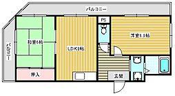 メゾンドール高田[203号室]の間取り