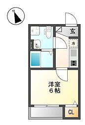 アンフィニ・コート黒川[3階]の間取り