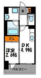 Modern Palazzo 警固(モダンパラッツォ警固)[502号室]の間取り