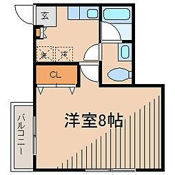神奈川県相模原市南区相模大野8丁目の賃貸アパートの間取り