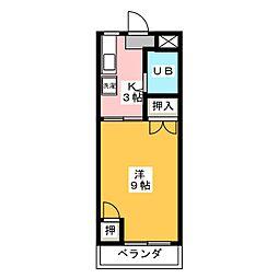 メロディハイツPartII[2階]の間取り