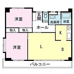 桜ケ丘パールハイツ[3A号室]の間取り