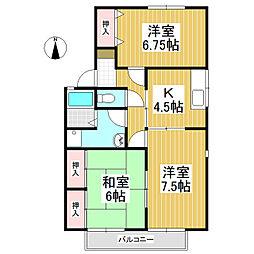 セジュール鎌田 A棟[2階]の間取り