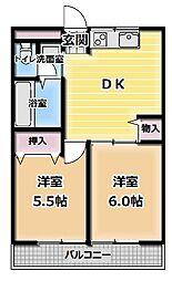プライム下島[3階]の間取り