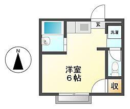 愛知県名古屋市瑞穂区初日町1丁目の賃貸アパートの間取り