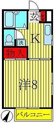 千葉県柏市つくしが丘3丁目の賃貸アパートの間取り