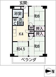 愛宕住宅[3階]の間取り