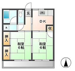 東光荘[2階]の間取り