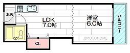 ベストレジデンス江坂A棟[5階]の間取り