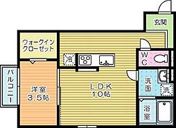 moreplus砂津(モアプラス)[3階]の間取り