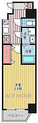 エステムコート南堀江IIICHURA[1004号室号室]の間取り