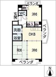 サンシャインロードM[4階]の間取り