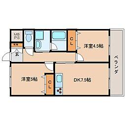静岡県静岡市駿河区下島の賃貸マンションの間取り