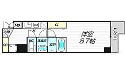 PHOENIX新大阪 2階1Kの間取り