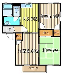 サンライトステージA・B[2階]の間取り