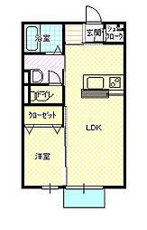 パークサイドK[203号室]の間取り