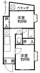 メゾンシマダ[2階]の間取り