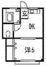 第1ガーネットハウス[1階]の間取り