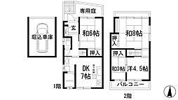 [テラスハウス] 兵庫県川西市東畦野5丁目 の賃貸【/】の間取り