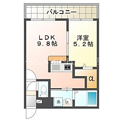 サンコート円山ガーデンヒルズ 5階1LDKの間取り