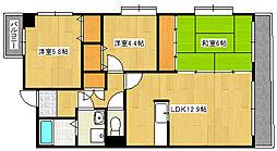 兵庫県神戸市灘区備後町3丁目の賃貸マンションの間取り