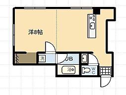 ダイナーズ鶴島[301号室]の間取り