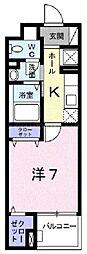 香川県高松市東ハゼ町の賃貸マンションの間取り