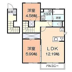 (仮)辻村アパート[201号室]の間取り