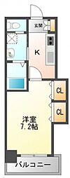 オリエンタル江坂[13階]の間取り