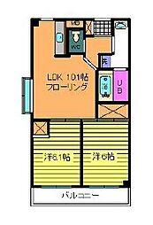 第5マンションカネイ[604号室]の間取り