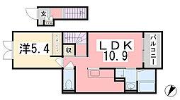 アマルフィ37[201号室]の間取り