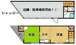 Osaka Metro四つ橋線 玉出駅 徒歩5分 2SDKの間取り