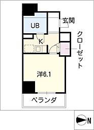 ライオンズマンション八熊通503号室[5階]の間取り