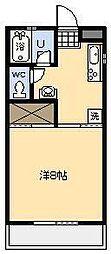 バートンプレイス[302号室]の間取り