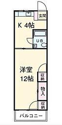 シノセビル[2F号室]の間取り