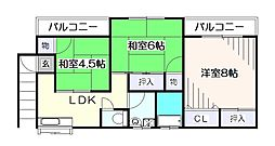 [一戸建] 東京都東久留米市中央町6丁目 の賃貸【/】の間取り