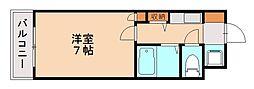 ジュパール別府[1階]の間取り