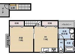 鶴見商店街住宅西新棟[2階]の間取り