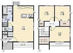[一戸建] 徳島県徳島市末広2丁目 の賃貸【徳島県 / 徳島市】の間取り